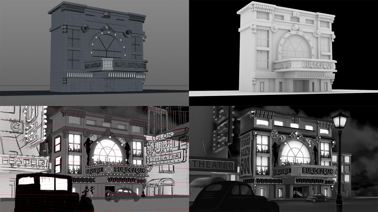部分場景採用2D和3D混合