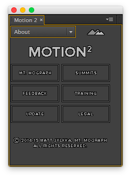 motion v2 About 選單介面
